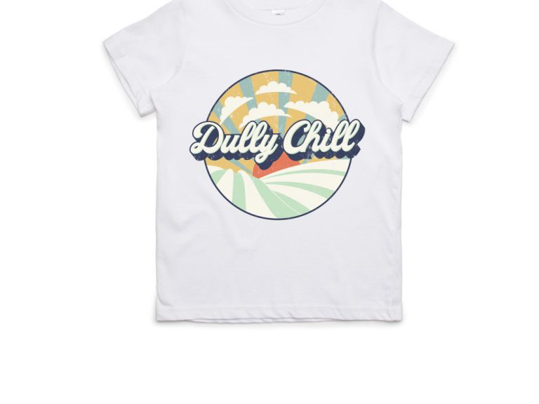 Thumbnail for Dully Chill Kids T-Shirt White