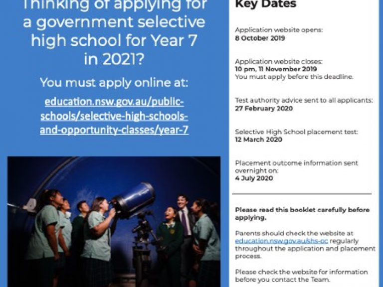 Thumbnail for Applying for Year 7 entry to Selective High Schools 2021